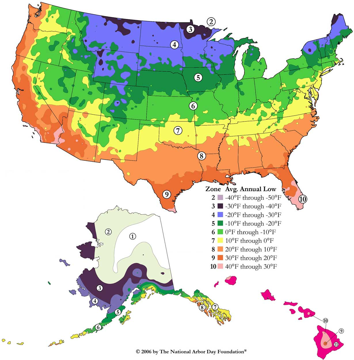 Plant Hardiness Zone Map For North America Maps For Growing Zones - Map of growing zones in the us